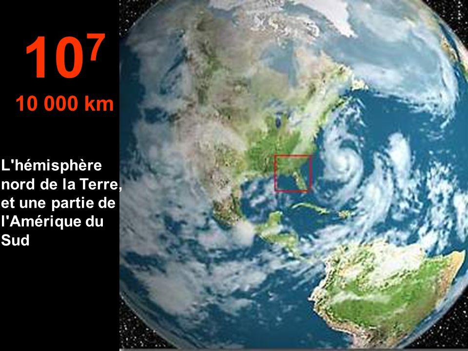 Vue typique d'un satellite 10 6 1 000 km