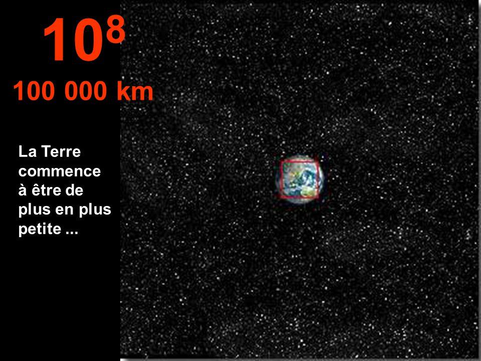 L'hémisphère nord de la Terre, et une partie de l'Amérique du Sud 10 7 10 000 km