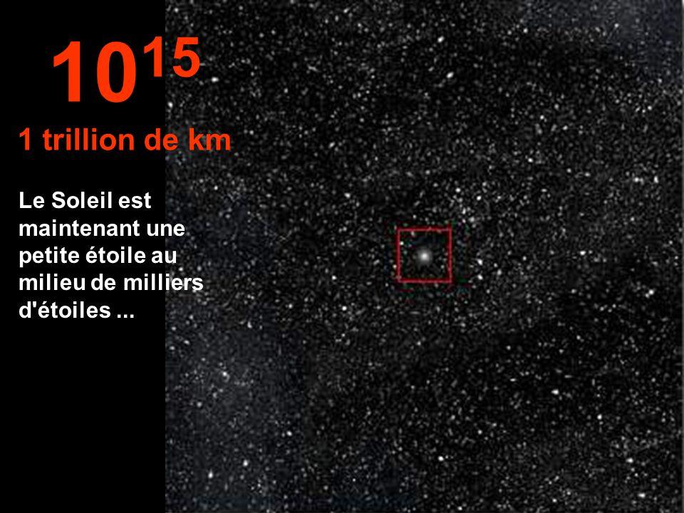 10 14 100 billions de km Le Système solaire commence à être de plus en plus petit...