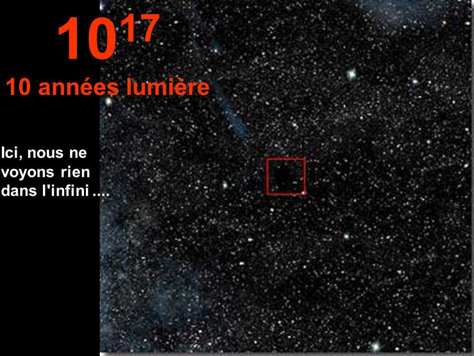 A une année- lumière la petite étoile soleil est vraiment minuscule. 10 16 1 année lumière