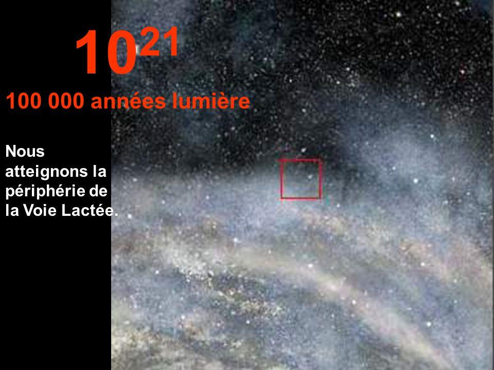 Nous continuons notre voyage à l 'intérieur de la Voie Lactée. 10 20 10 000 années lumière