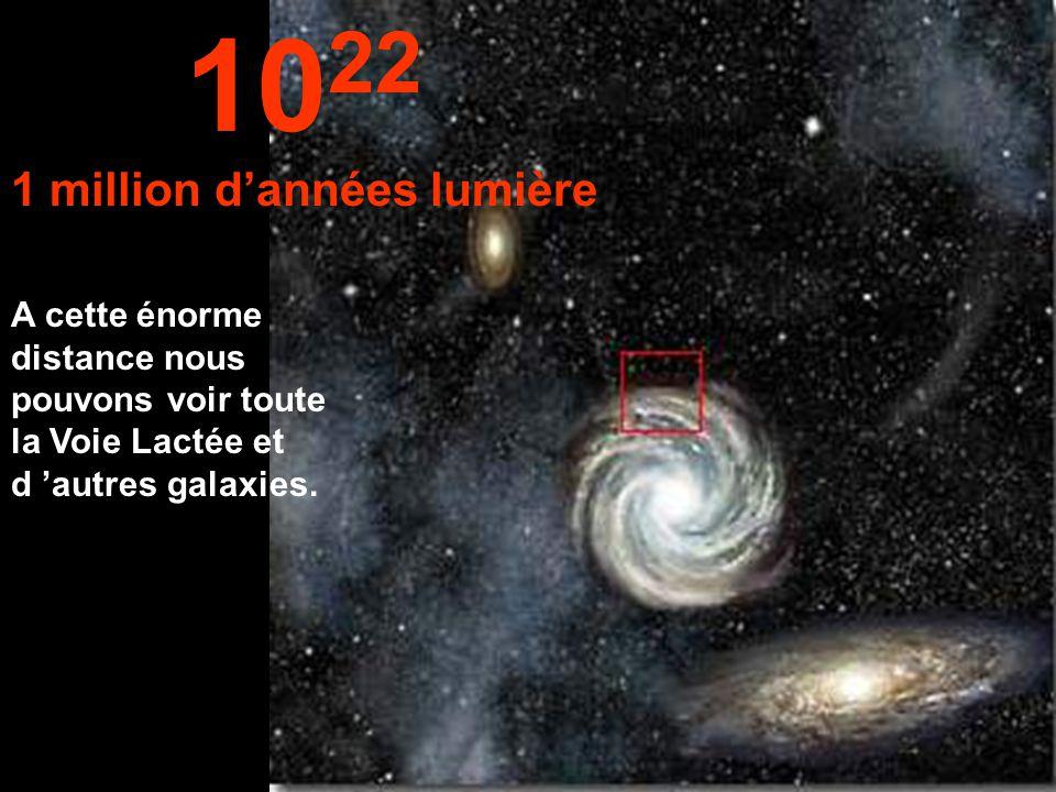 Nous atteignons la périphérie de la Voie Lactée. 10 21 100 000 années lumière
