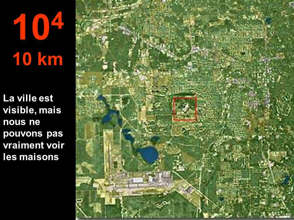 Nous allons passer des mètres aux kilomètres.. Maintenant, il est possible de sauter en parachute... 10 3 1 km