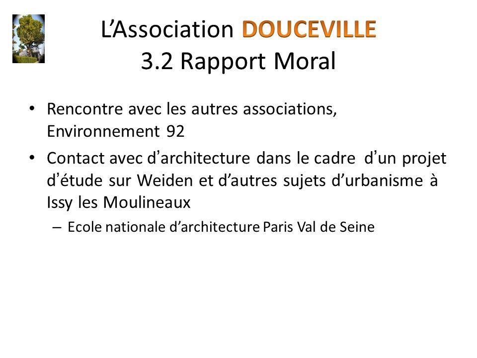 Rencontre avec les autres associations, Environnement 92 Contact avec d'architecture dans le cadre d'un projet d'étude sur Weiden et d'autres sujets d