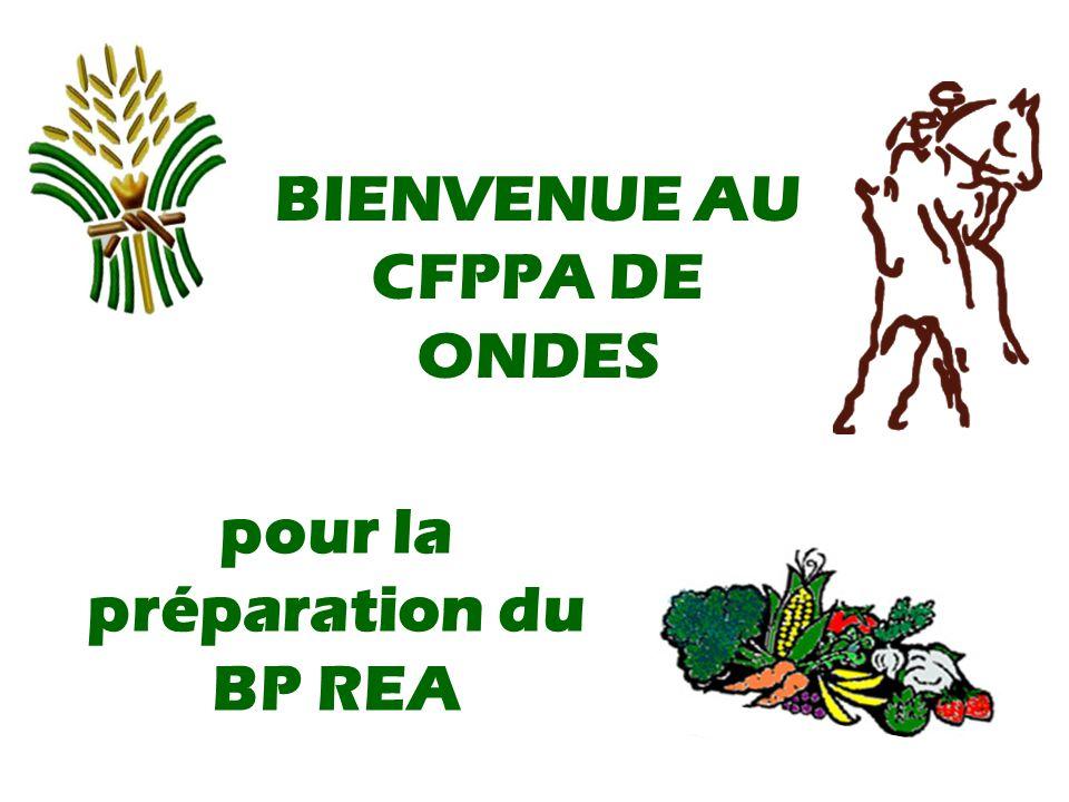 BIENVENUE AU CFPPA DE ONDES pour la préparation du BP REA