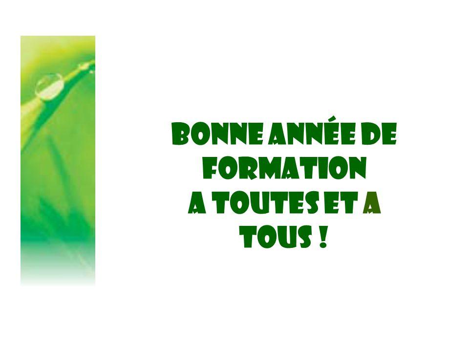Bonne année DE FORMATION A toutes ET A TOUS !