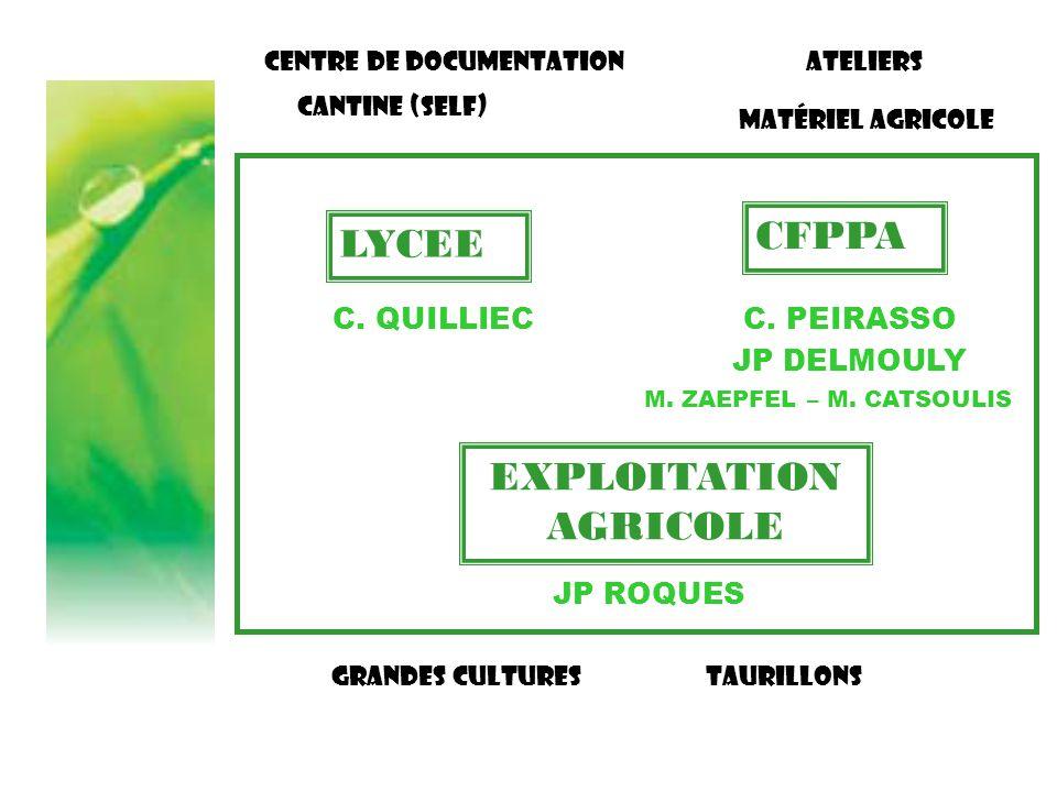 LE REFERENTIEL PROFESSIONNEL = Liste des activités relevant du métier de RESPONSABLE D'EXPLOITATION AGRICOLE Niveau National Adaptations apportées par le CFPPA 12 UC constitutives du BP REA