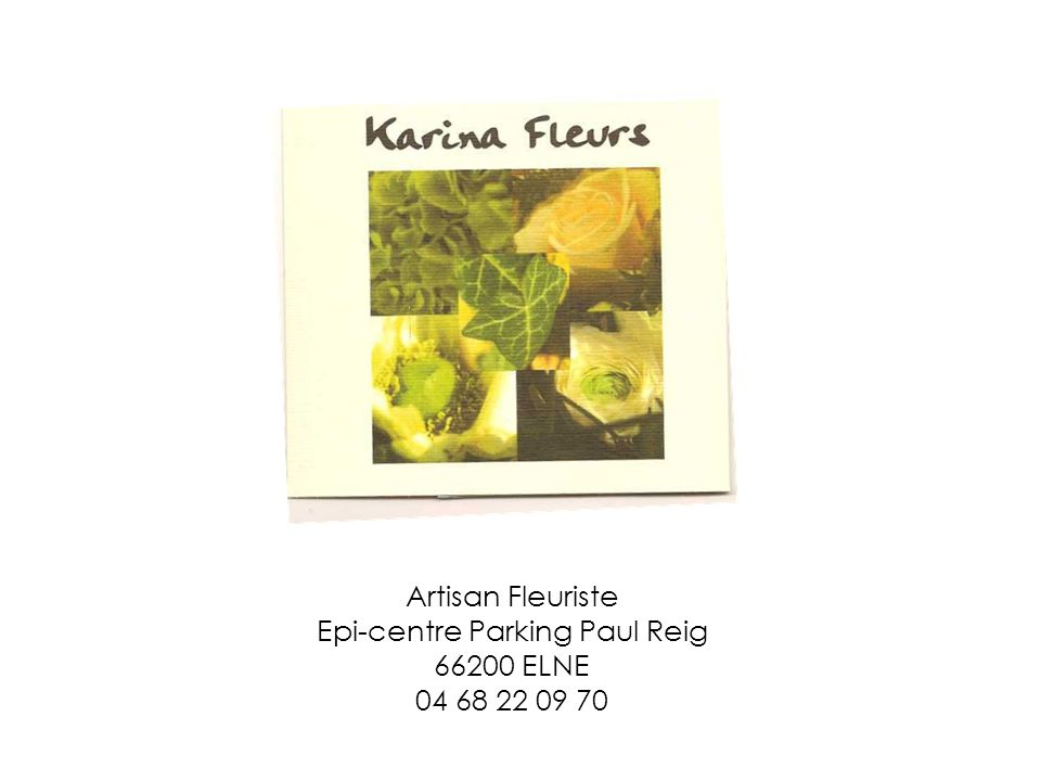 Artisan Fleuriste Epi-centre Parking Paul Reig 66200 ELNE 04 68 22 09 70