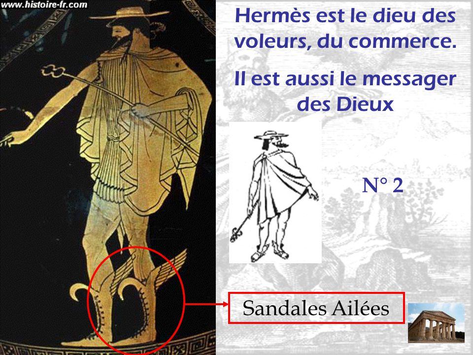 Sandales Ailées Hermès est le dieu des voleurs, du commerce. Il est aussi le messager des Dieux N° 2