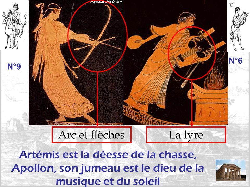 Arc et flèchesLa lyre Artémis est la déesse de la chasse, Apollon, son jumeau est le dieu de la musique et du soleil N°9 N°6