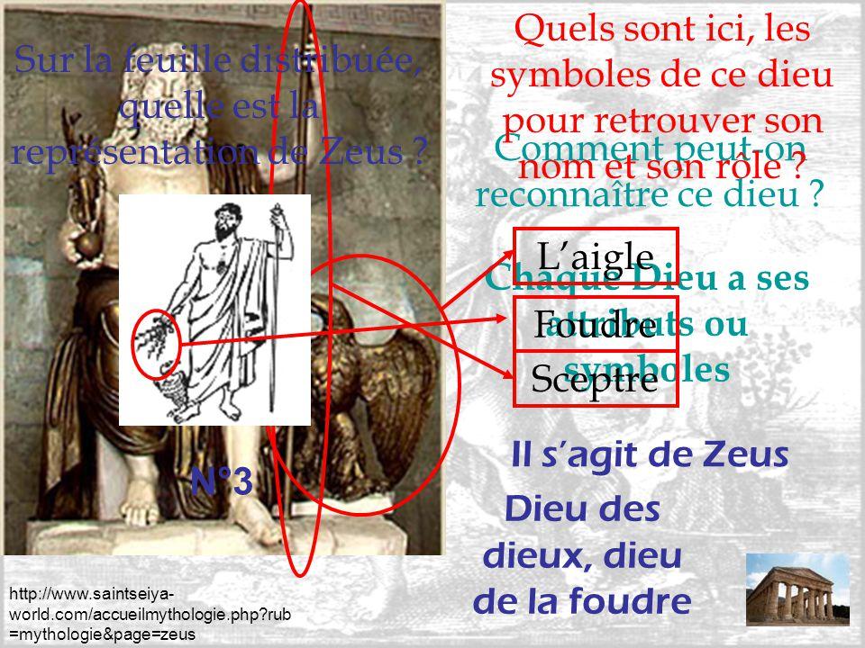 http://www.saintseiya- world.com/accueilmythologie.php?rub =mythologie&page=zeus Comment peut-on reconnaître ce dieu ? Chaque Dieu a ses attributs ou
