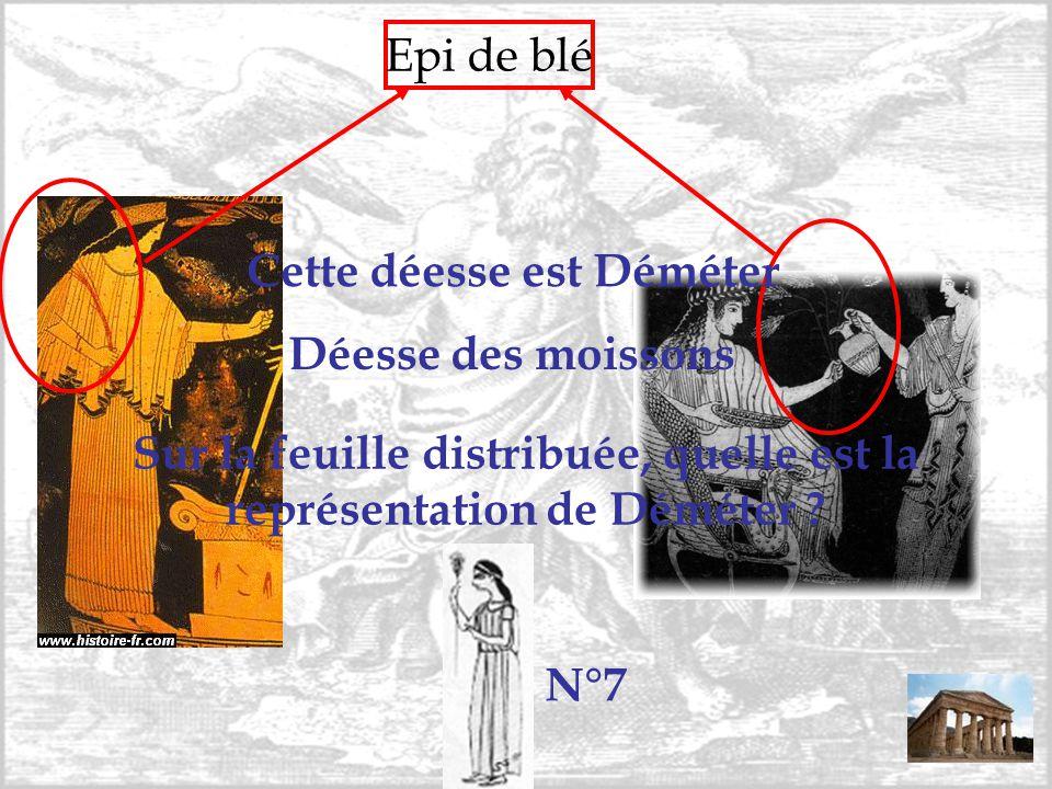 Epi de blé Sur la feuille distribuée, quelle est la représentation de Déméter ? Cette déesse est Déméter Déesse des moissons N°7