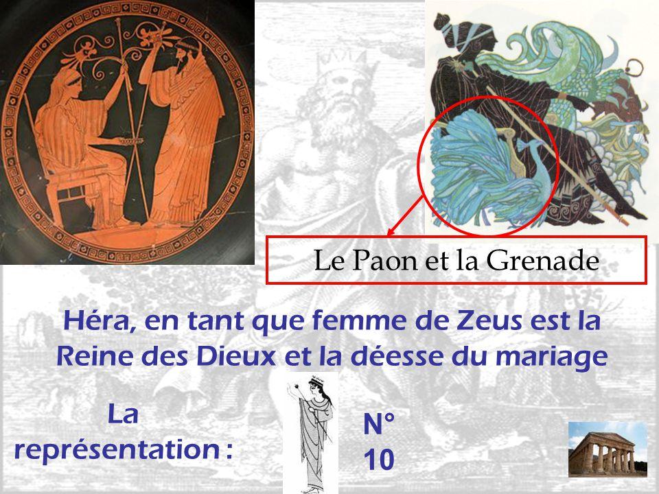 Le Paon et la Grenade Héra, en tant que femme de Zeus est la Reine des Dieux et la déesse du mariage La représentation : N° 10