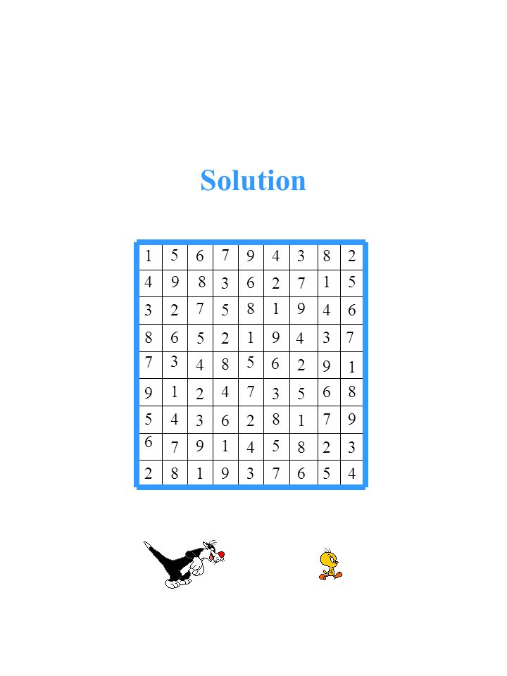 Solution 4 5 6 7 3 9 1 82 3 2 8 5 4 19 7 6 97 1 8 2 6 3 45 86 5 3 74 2 1 9 1 9 2 6 5 8 4 3 7 3 4 91 2 5 68 64 9 1 8 5 7 23 5 1 72 6 3 9 8 4 28 3 4 9 7