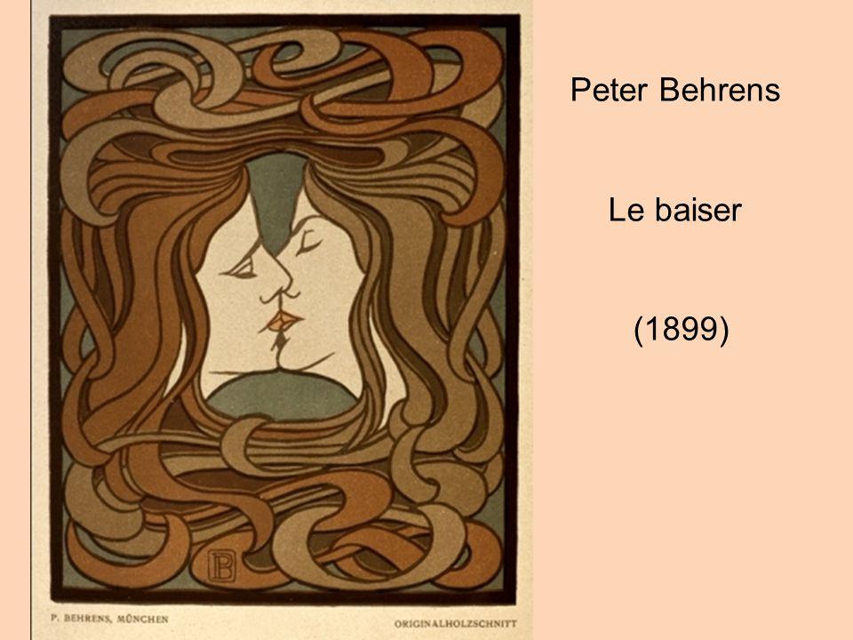 Peter Behrens Le baiser (1899)