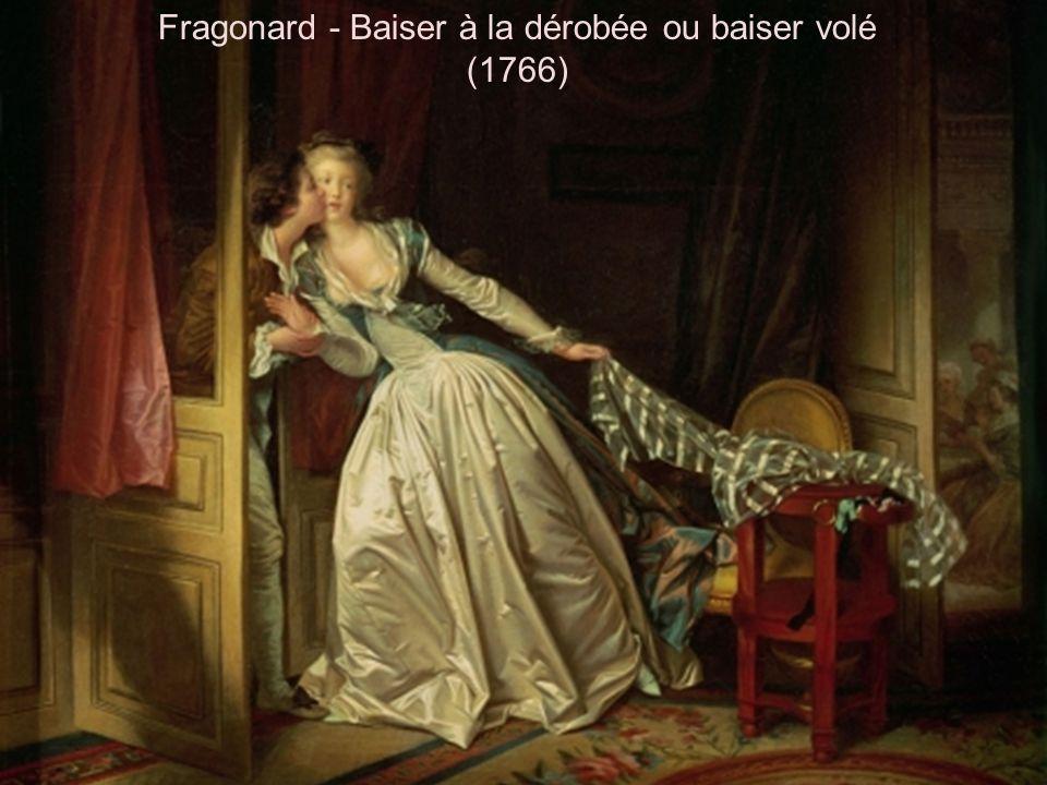 Fragonard - Baiser à la dérobée ou baiser volé (1766)