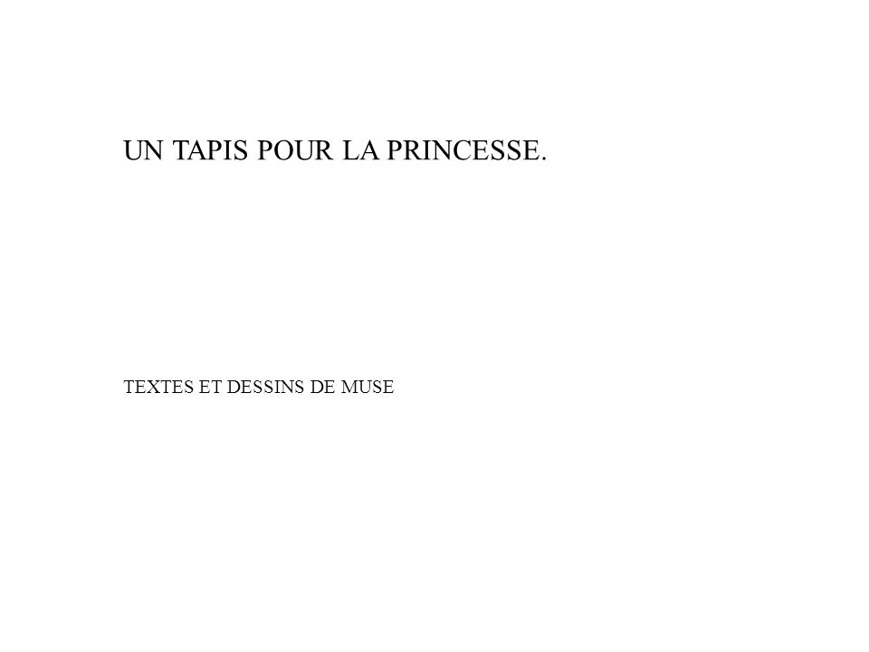 UN TAPIS POUR LA PRINCESSE. TEXTES ET DESSINS DE MUSE