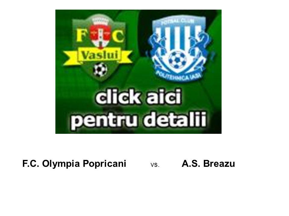 F.C. Olympia Popricani vs. A.S. Breazu