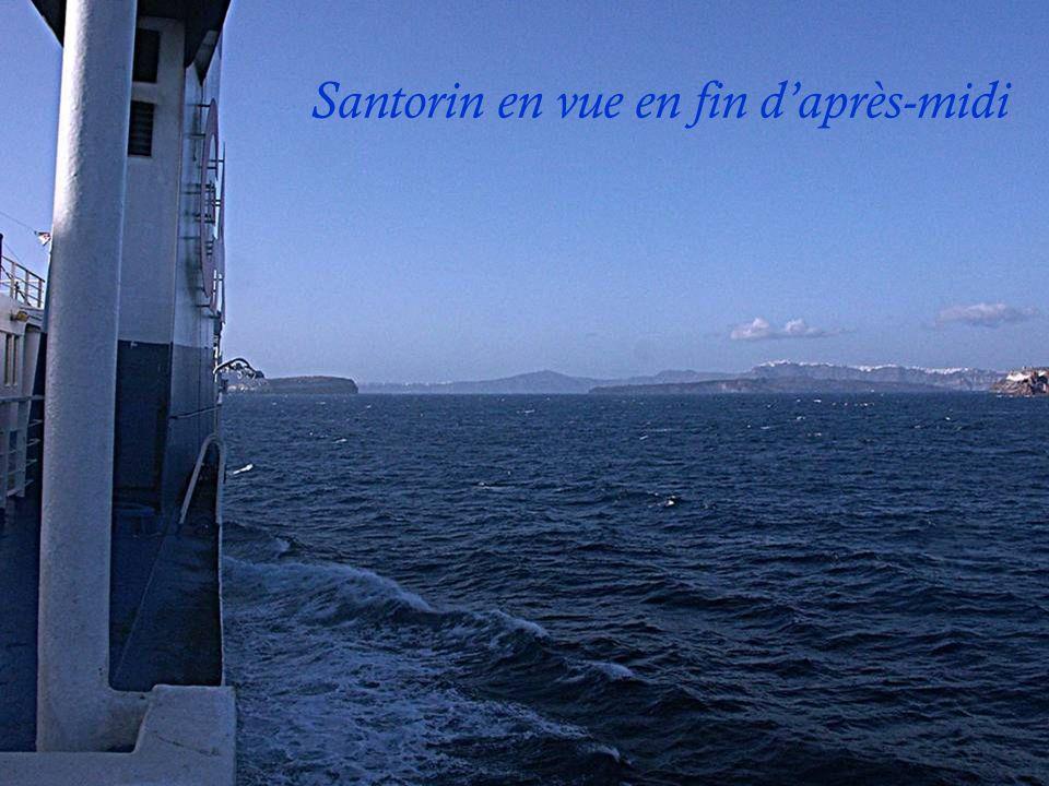 Embarquement à Iraklio en Crète