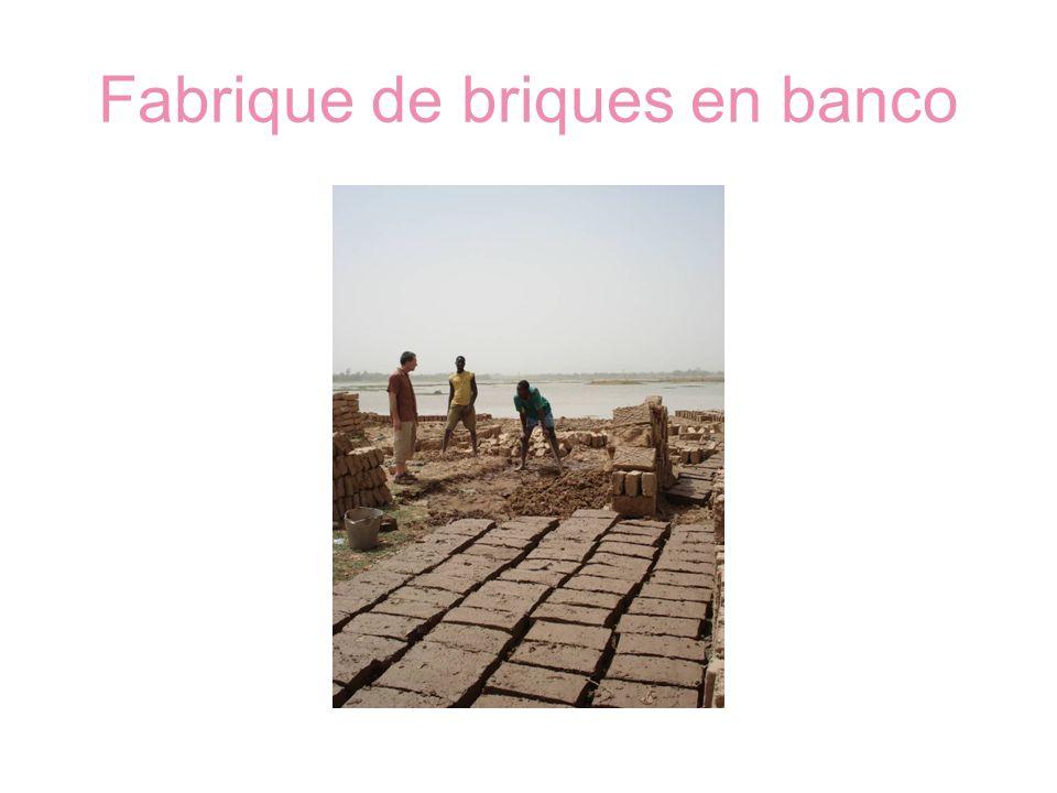 Fabrique de briques en banco