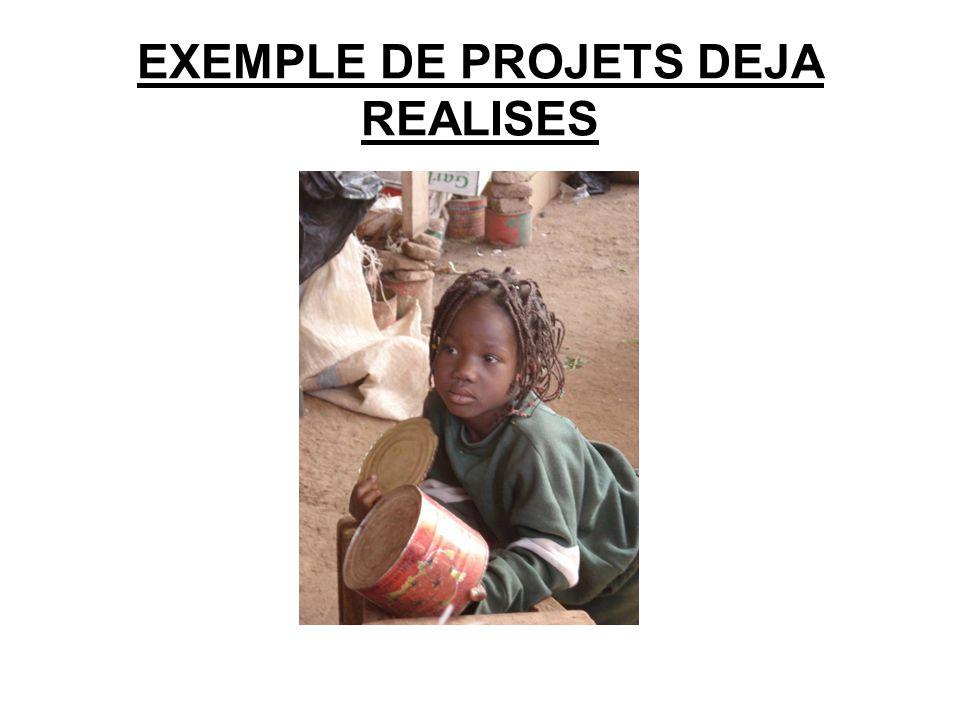 EXEMPLE DE PROJETS DEJA REALISES