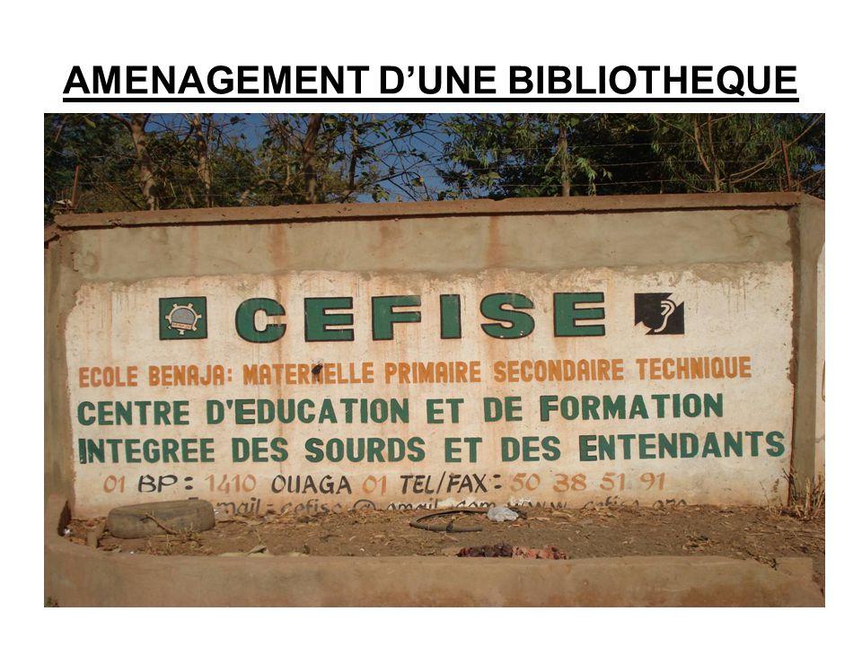 AMENAGEMENT D'UNE BIBLIOTHEQUE
