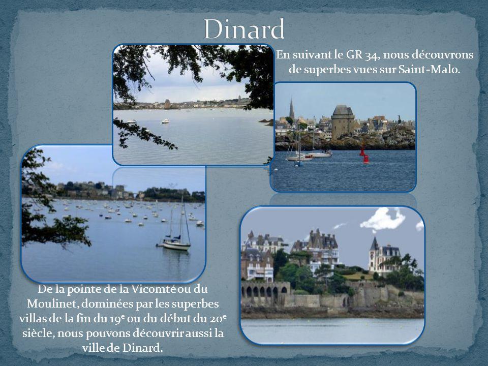 En suivant le GR 34, nous découvrons de superbes vues sur Saint-Malo.