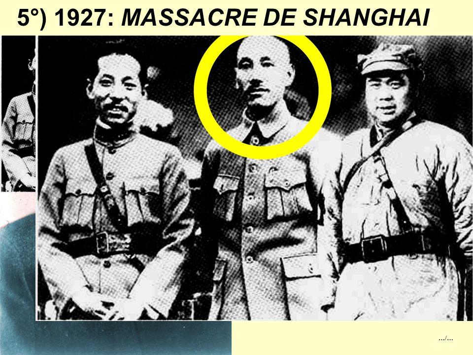 4°) 1919: LE MOUVEMENT DU 4 MAI La Chine entra en guerre Contre l'Allemagne en 1917. Pourtant le traité de Versailles attribua au Japon les possession