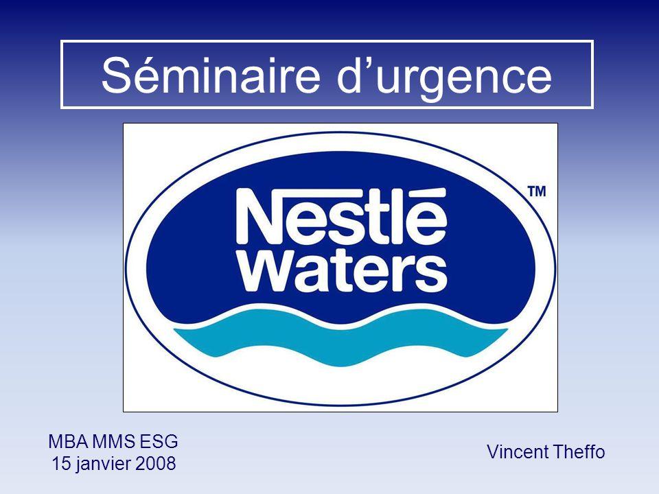 Séminaire d'urgence Vincent Theffo MBA MMS ESG 15 janvier 2008