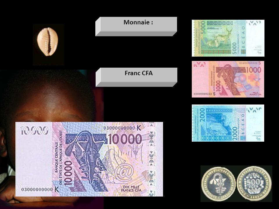 Franc CFA Monnaie :