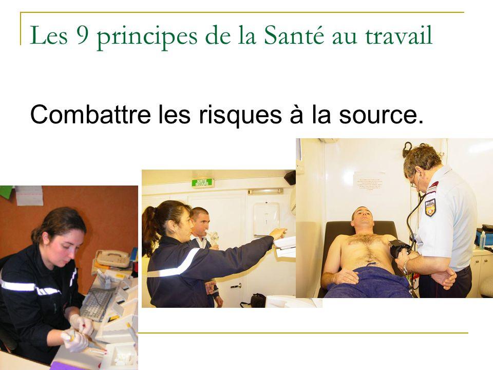 Les 9 principes de la Santé au travail Combattre les risques à la source.