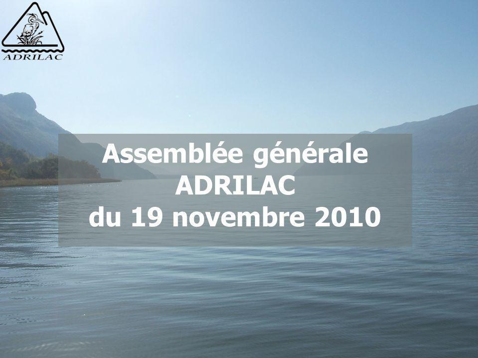 Assemblée générale ADRILAC du 19 novembre 2010