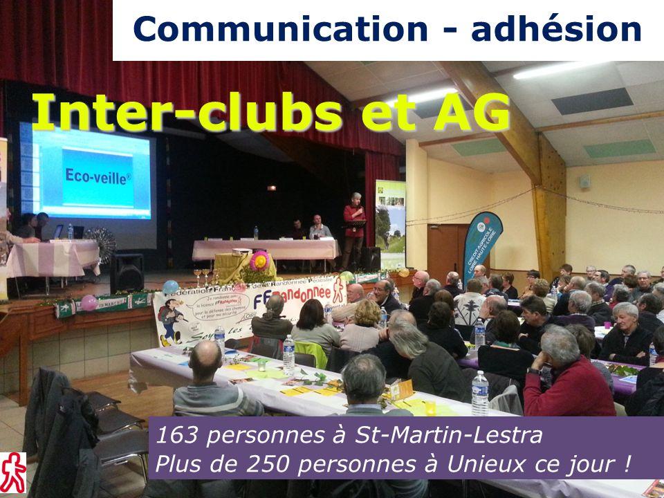 163 personnes à St-Martin-Lestra Plus de 250 personnes à Unieux ce jour .