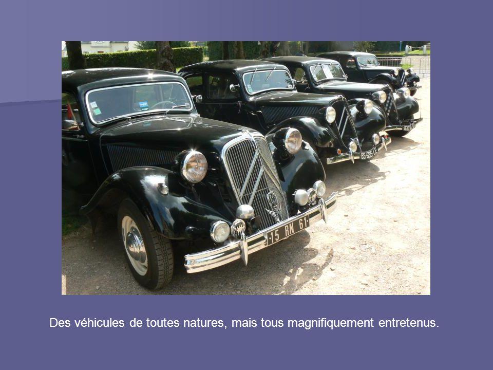 Des véhicules de toutes natures, mais tous magnifiquement entretenus.
