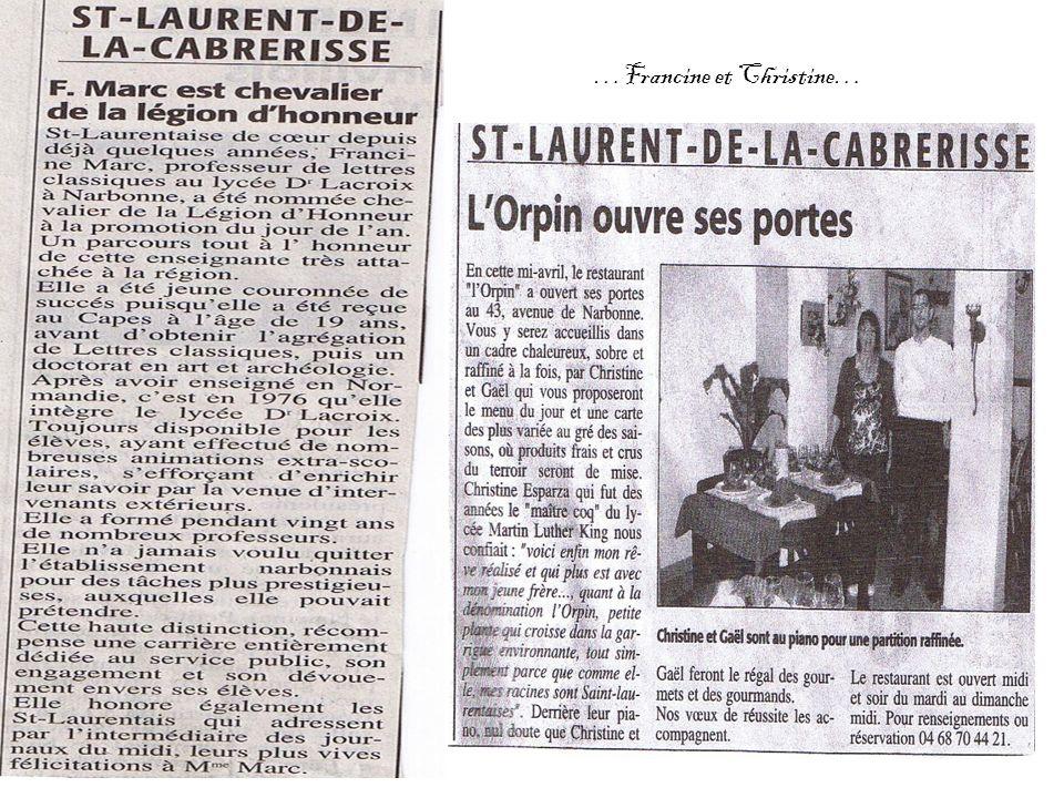 …Francine et Christine…