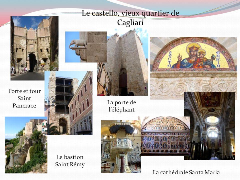 Cagliari Capitale de la Sardaigne La ville s'étend sur plusieurs collines.