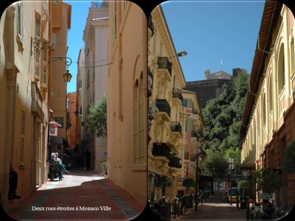 Deux rues étroites à Monaco Ville