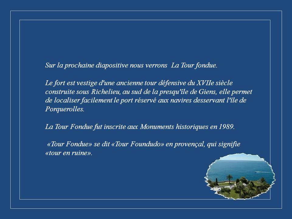 Sur la prochaine diapositive nous verrons La Tour fondue.