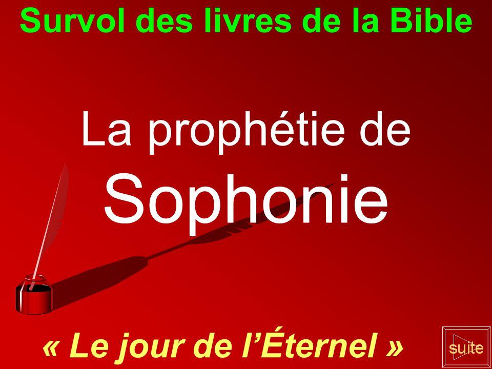 Survol des livres de la Bible La prophétie de Sophonie « Le jour de l'Éternel »
