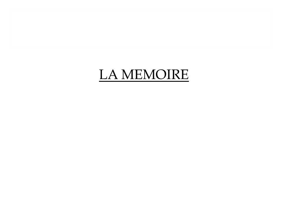 LA MEMOIRE