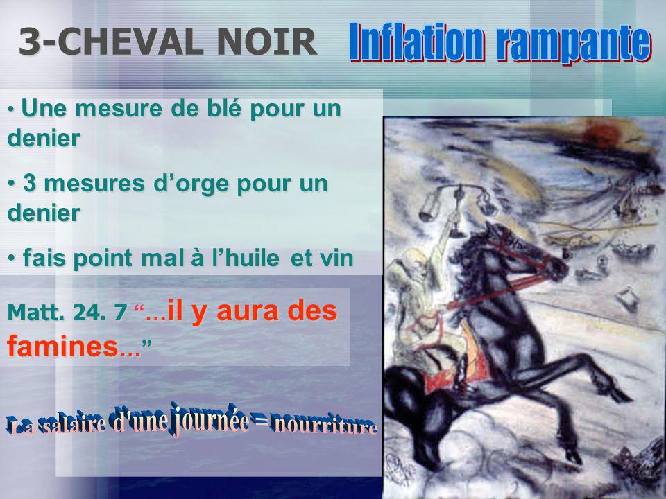 2- Cheval rouge I Thess. 5. 3 Quand les hommes diront: Paix et sûreté.