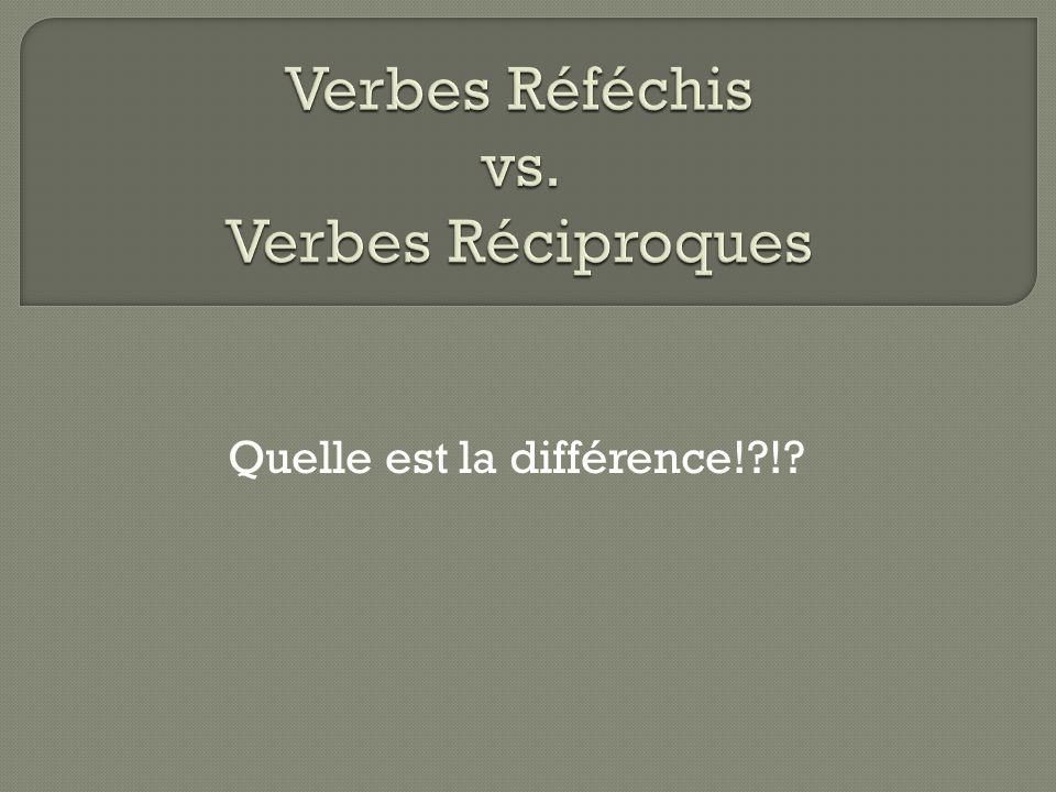 Quelle est la différence!?!?