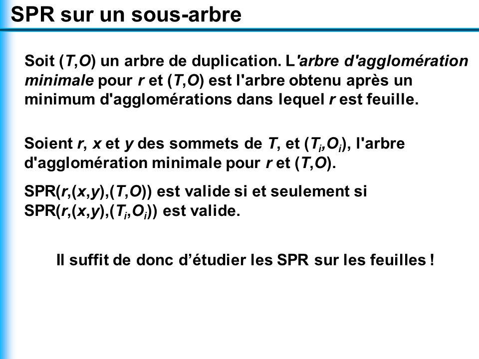 Soit (T,O) un arbre de duplication.