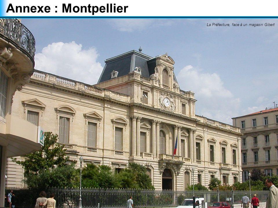 Annexe : Montpellier La Préfecture, face à un magasin Gibert