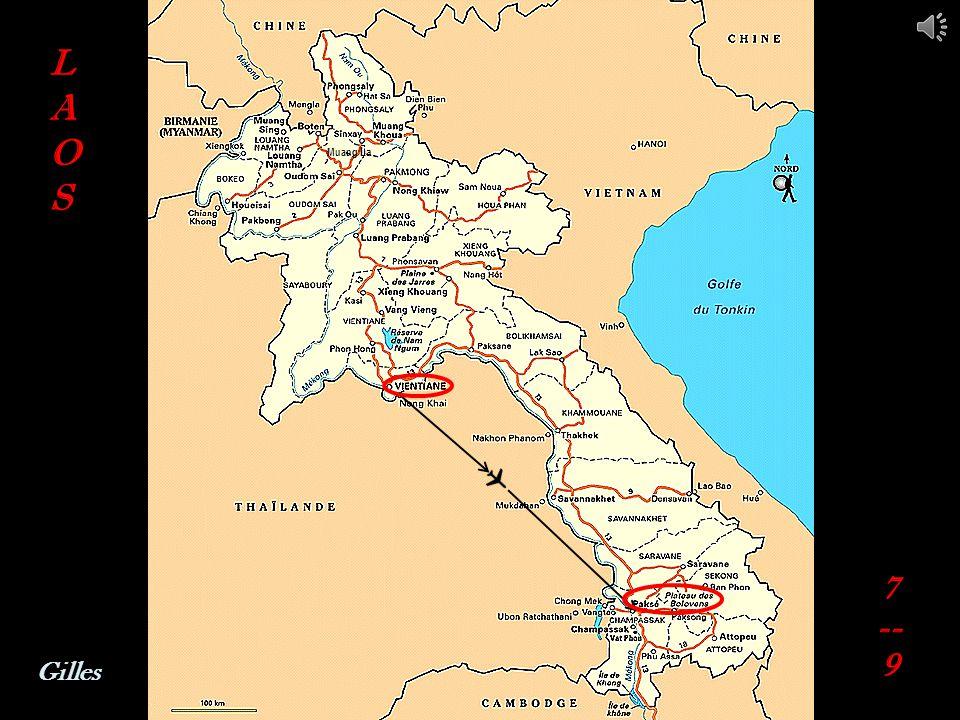 Route nationale 13 Maison traditionnelle Route CHAMPASSAK - PAKSE