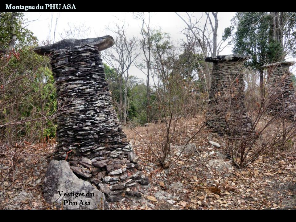 Montagne du PHU ASA Vestiges du Phu Asa