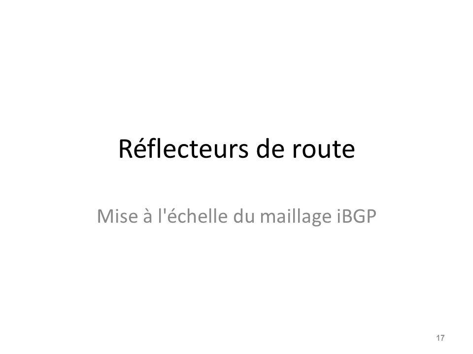 Réflecteurs de route Mise à l'échelle du maillage iBGP 17