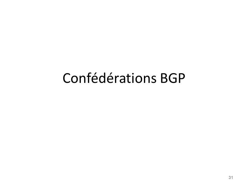 Confédérations BGP 31