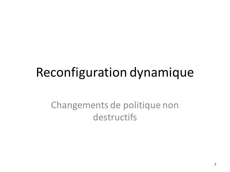 Reconfiguration dynamique Changements de politique non destructifs 4
