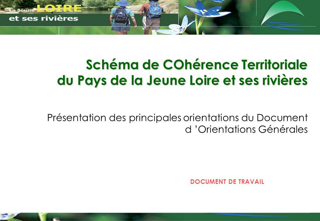Schéma de COhérence Territoriale du Pays de la Jeune Loire et ses rivières Présentation des principales orientations du Document d 'Orientations Génér